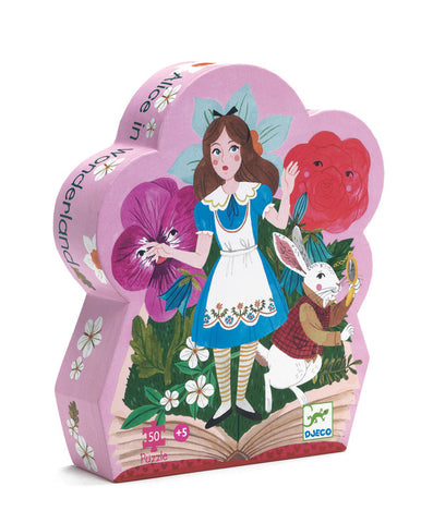 Djeco: 50pc Silhouette Puzzle - Alice in Wonderland