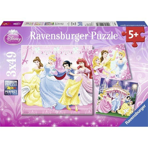 Ravensburger : Disney Princess Puzzle 3x49pc