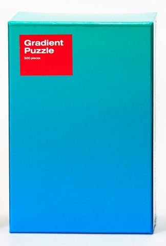 Areaware: 500-Piece Gradient Puzzle – Blue Green