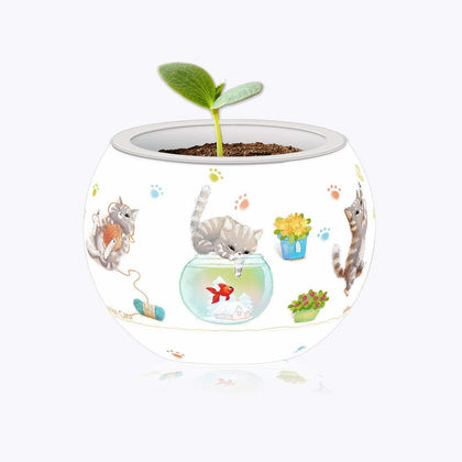 Pintoo: 80-Piece Puzzle Flower Pot - Cat's Playtime