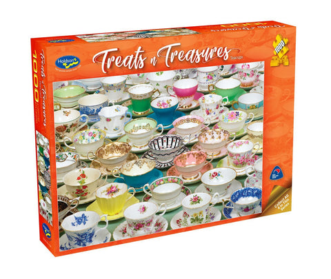Holdson: Treats 'n Treasures S2 - Teacups (1000pc puzzle)