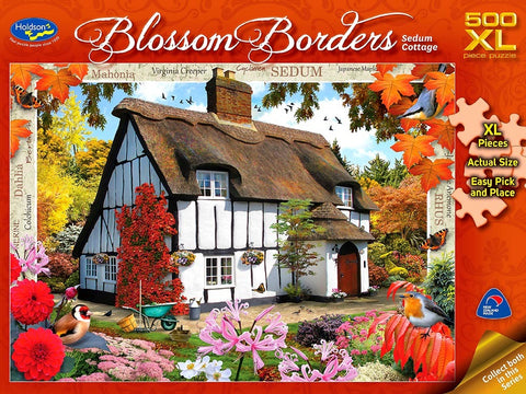 Holdson XL: 500 Piece Puzzle - Blossom Borders (Sedum Cottage)