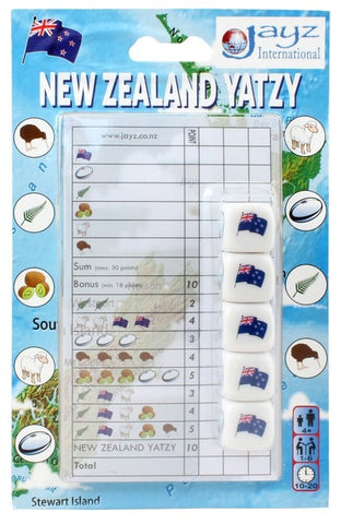 New Zealand Yatzy - Dice Game - The Board Gamer