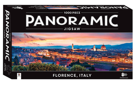 Hinkler: Panmoramic 1,000 Piece Jigsaw - Florence Italy - The Board Gamer