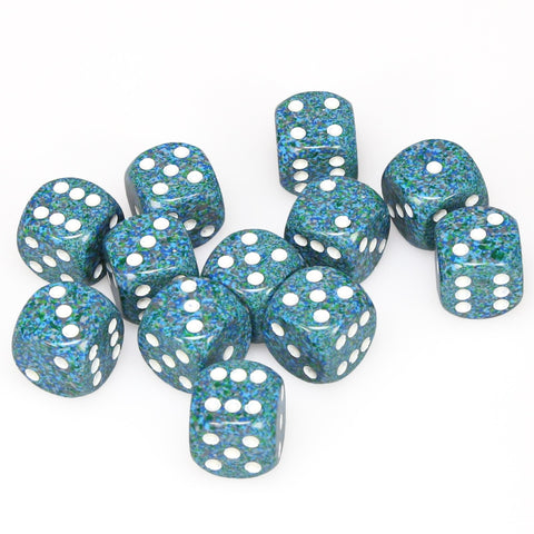 Chessex: D6 16mm Speckled Dice - Sea