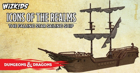 D&D Icons of the Realms The Falling Star Sailing Ship