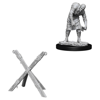 WizKids Deep Cuts Unpainted Miniatures: Assistant & Torture Cross