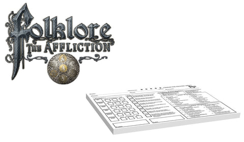 Folklore: The Affliction - Character Record Pad