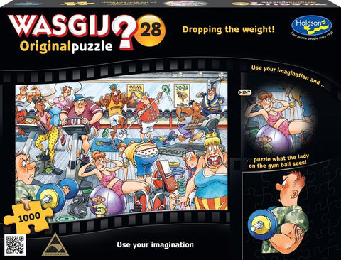 Wasgij: 1000 Piece Puzzle - Originals #28 (Dropping the Weight) - The Board Gamer