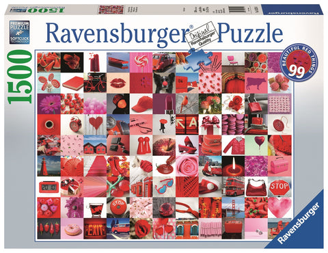 Ravensburger: 1,500 Piece Puzzle - 99 Beautiful Red Things - The Board Gamer