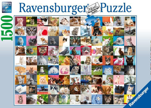 Ravensburger: 1,500 Piece Puzzle - 99 Cats - The Board Gamer