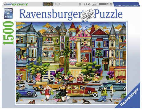 Ravensburger: 1,500 Piece Puzzle - The Painted Ladies - The Board Gamer