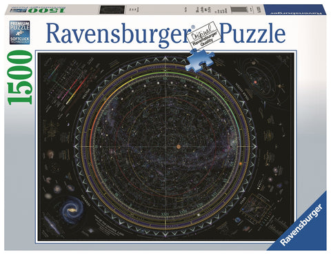 Ravensburger: 1,500 Piece Puzzle - Map of the Universe - The Board Gamer