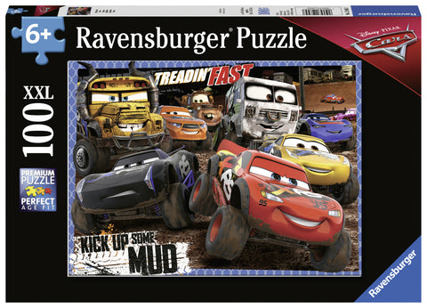 Ravensburger: 100 Piece Giant Puzzle - Cars 3 (Kick Up Some Mud)