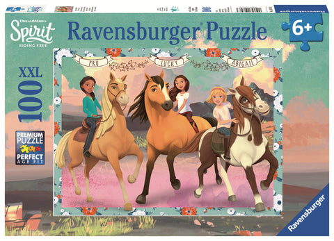Ravensburger: 100 Piece Puzzle - Spirit: Lucky & her Friends
