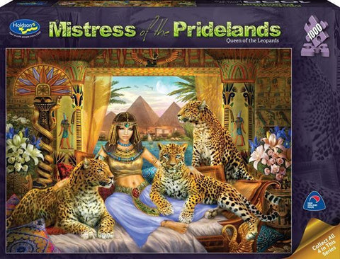 Holdson: 1000 Piece Puzzle - Mistress of the Pridelands (Queen of the Leopards)