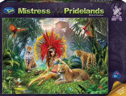 Holdson: 1000 Piece Puzzle - Mistress of the Pridelands (Bird of Paradise)