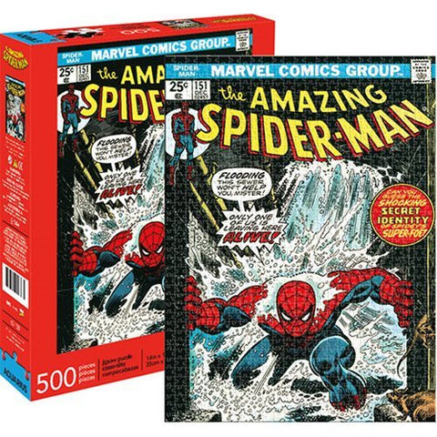 Marvel: 500 Piece Puzzle - Spider-Man Cover - The Board Gamer