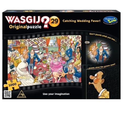 Wasgij: 1000 Piece Puzzle - Originals #29 (Catching Wedding Fever) - The Board Gamer