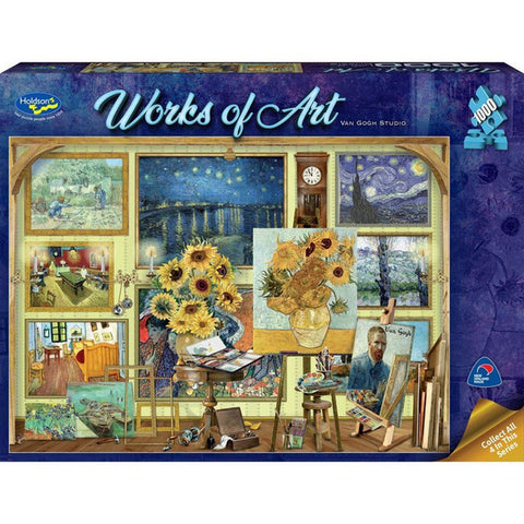 Holdson: 1000 Piece Puzzle - Works of Art (Van Gogh Studio) - The Board Gamer