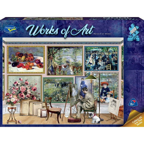 Holdson: 1000 Piece Puzzle - Works of Art (Renoir at Work) - The Board Gamer
