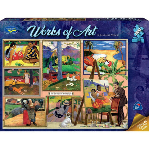 Holdson: 1000 Piece Puzzle - Works of Art (In Gauguin's Atelier) - The Board Gamer