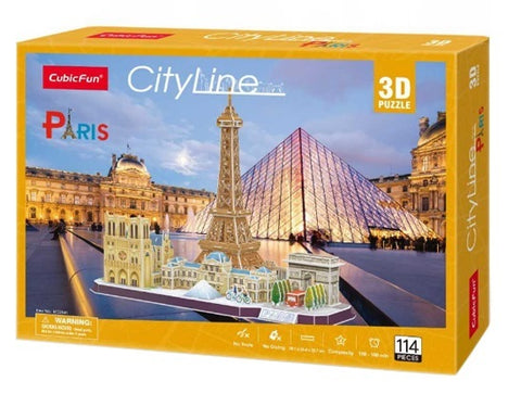 Cubic Fun: City Line 3D Puzzle - Paris