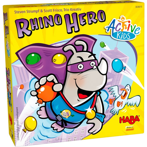 Rhino Hero: Active Kids - Children's Game - The Board Gamer