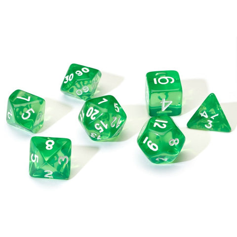 Sirius Dice: Polyhedral Dice Set - Translucent Green