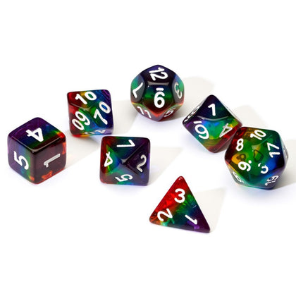 Sirius Dice: Polyhedral Dice Set - Translucent Rainbow Cloud
