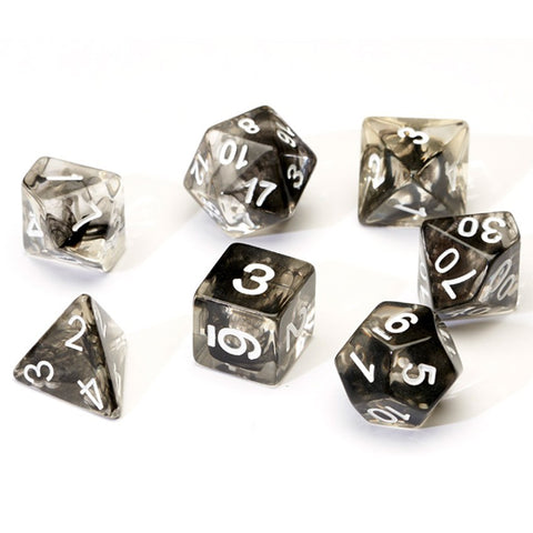 Sirius Dice: Polyhedral Dice Set - Translucent Black Cloud