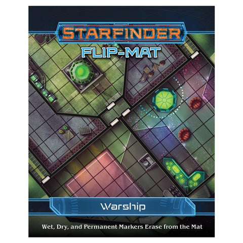 Starfinder RPG: Flip-Mat - Warship - The Board Gamer