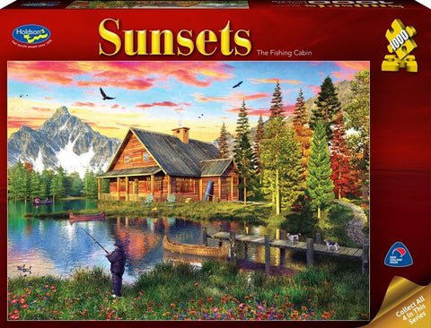 Holdson: 1000 Piece Puzzle - Sunsets (The Fishing Cabin)