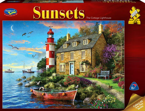 Holdson: 1000 Piece Puzzle - Sunsets (The Cottage Lighthouse)