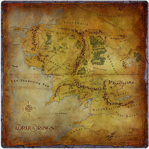 Lord of the Rings: Journeys in Middle Earth - Playmat - The Board Gamer