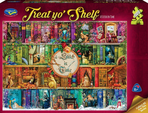 Holdson: 1000 Piece Puzzle - Treat Yo'Shelf (A Stitch in Time) - The Board Gamer
