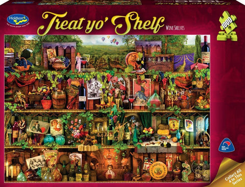 Holdson: 1000 Piece Puzzle - Treat Yo'Shelf (Wine Shelves)