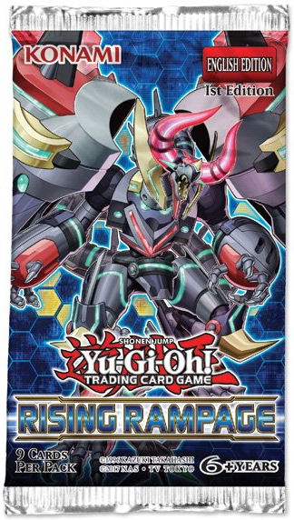Yu-Gi-Oh! Rising Rampage Single Booster (9 Cards) - The Board Gamer