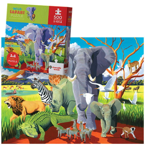 Crocodile Creek: 500-Piece Puzzle - Wild Safari