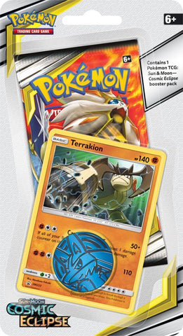 Pokemon TCG: Cosmic Eclipse Collectors Checklane Blister- Terrakion