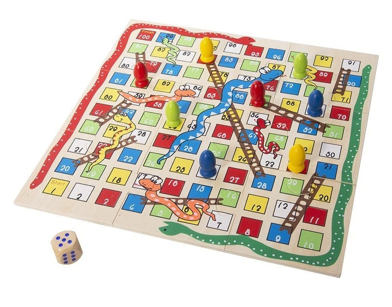 IS Gift: Classic Games - 2-In-1 Tin (Snakes & Ladders/Noughts & Crosses)