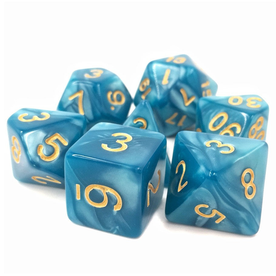 Sleepy Sky Polyhedral Dice Set
