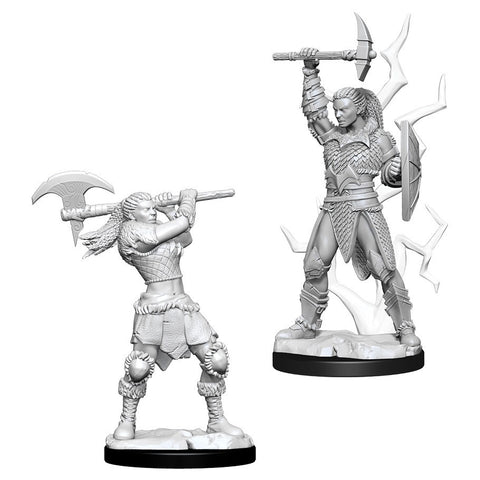 D&D Nolzur's Marvelous: Unpainted Miniatures - Female Goliath Barbarian