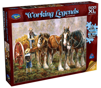 Holdson XL: 500 Piece Puzzle - Working Legends (Can I Come Too?)