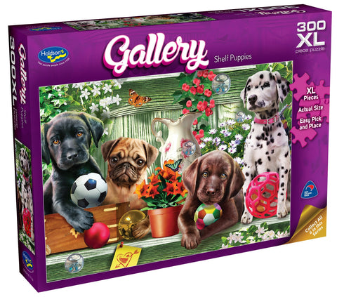 Holdson XL: 300 Piece Puzzle - Gallery S6 (Shelf Puppies