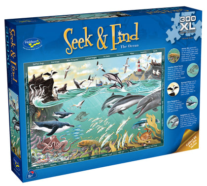 Holdson XL: 300 Piece Puzzle - Seek & Find (The Ocean)
