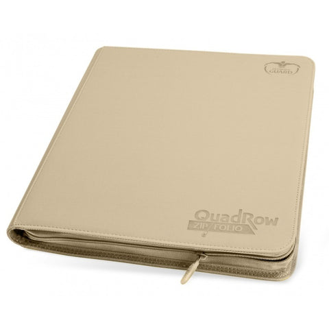 Ultimate Guard 12-Pocket Quadrow Zipfolio Xenoskin Sand