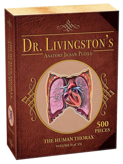 Dr Livingston's: 500-Piece Anatomy Puzzle - Human Thorax