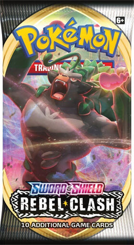 Pokemon TCG: Sword and Shield Rebel Clash Single Booster (10 Cards)