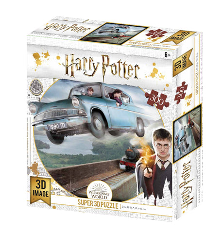 Super 3D: 300-Piece Jigsaw Puzzle - Harry Potter: Ford Anglia